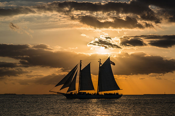 top 10 things to do in key west - Sunset Sail Nick Doll