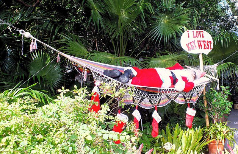 Christmas in Key West - Santa in hammock