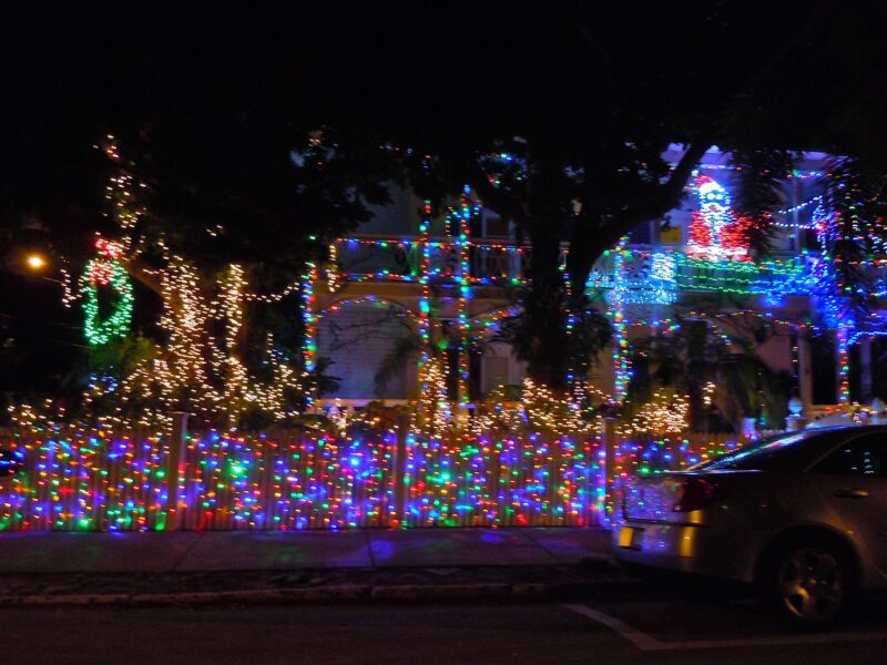 Christmas in Key West - lighted trolley tour